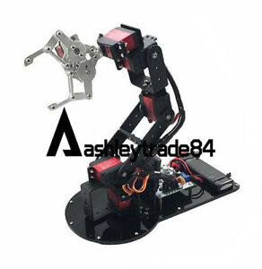 6dof Aluminium Full Set Mechanical Robot Arm With 51 arduino stm32 Controllers