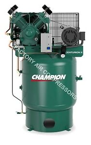 Champion Vrv7 8 7 5hp Air Compressor Two Stage Single Phase 80 Gallon Vertical