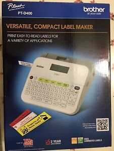 Brand New Brother P touch Pt d400 Label Maker Ptd400 Labeler