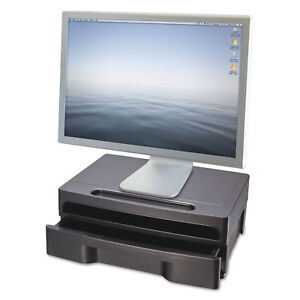 Officemate Monitor Stand With Drawer 13 1 8 X 9 7 8 X 5 Black 22502