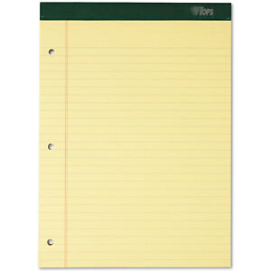 Tops Double Docket Ruled Pads 8 1 2 X 11 3 4 Canary 100 Sheets 6 Pads pack 63387