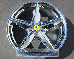 Ferrari 360 Modena Spider 18 Inch Staggered Chrome Wheels Rims Oem 18x7 5 18x10