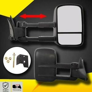 Towing Mirrors For 88 98 Chevy Gmc 1500 2500 3500 Manual Side Mirror Truck Pair