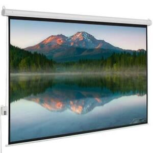 100 4 3 80 X 60 Viewing Area Motorized Projector Screen With Remote Control