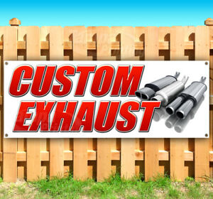 Custom Exhaust Advertising Vinyl Banner Flag Sign Many Sizes Usa