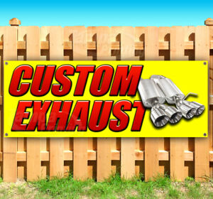 Custom Exhaust Advertising Vinyl Banner Flag Sign Many Sizes Usa Muffler