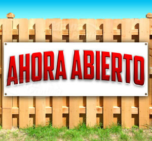 Ahora Abierto Advertising Vinyl Banner Flag Sign Many Sizes Usa Spanish