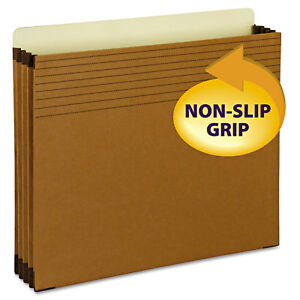 Smead Easy Grip File Pocket Letter 3 1 2 Exp Redrope 25 pk 73280