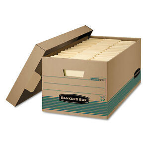 Bankers Box Stor file Extra Strength Storage Box Letter Lift off Lid Kft green