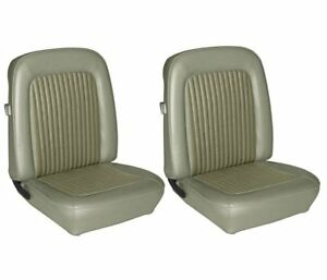 1968 Mustang Front Bucket Seat Upholstery Ivy Gold Made By Tmi In Stock
