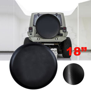 Spare Tire Cover For Jeep Wrangler 18inch Leather Black Wheel Tire Cover 33 35