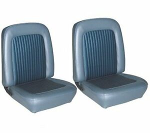 1968 Mustang Front Bucket Seat Upholstery Blue Made By Tmi In Stock