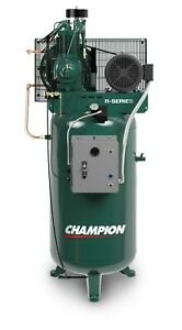 Champion 5 Hp 2 Stage 1 Phase Air Compressor Vr5 8 Full Package Made In Usa