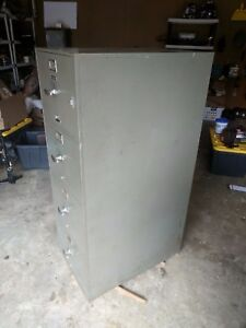 Vintage Meilink Built Hercules One Hour Fireproof Safe File Cabinet 4 Drawer
