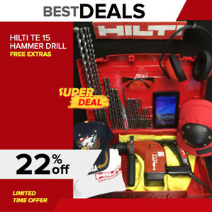 Hilti Te 15 Hammer Drill Preowned Free Tablet A Lot Of Extras Quick Ship