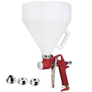 Paint Spray Gun Drywall Wall Painting Sprayer Texture Tool 3 Nozzle Air Hopper