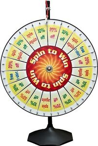 Carnival Trade Show Spinning Prize Wheel 20 Pie Insert Pocket For Templates