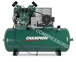 Champion 10 Hp 3 Phase 120 Gallon Hr10 12 Advantage Series Air Compressor