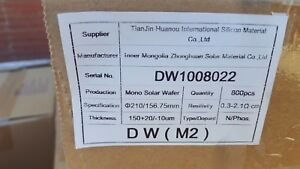 Tianjin Huanou Silicon Square Wafers Ean63045911 N phos Res 3 2 1 210mm 150um