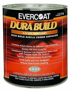 Evercoat 2274 Dura Build Acrylic Primer Surfacer Gray 1 Gal