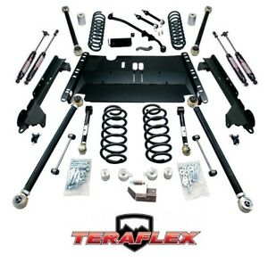Teraflex Tj 4 Enduro Lcg Long Arm Lift Kit W 9550 Shocks 97 06 Jeep Wrangler