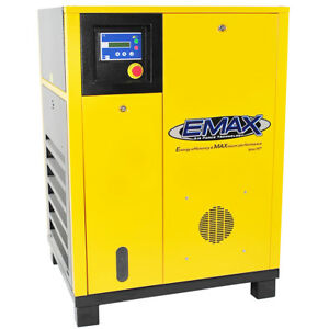 Emax Ers0100001 10 Hp 1 Phase Industrial Rotary Screw Air Compressor