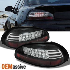 Fits Black 97 03 Pontiac Grand Prix Philips Lumileds Led Perform Tail Lights Set
