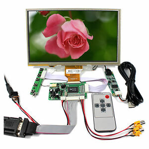Vga 2av Lcd Controller Board 9 At090tn10 At090tn12 800x480 Lcd With Touch Panel