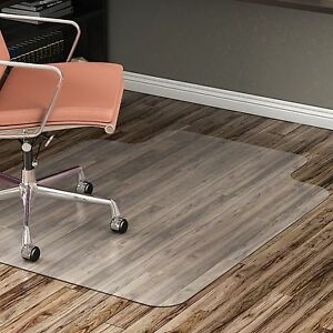 Lorell Hard Floor Chairmat Str Edge 45 x53 Wide Lip 25 x12 Cl 69167