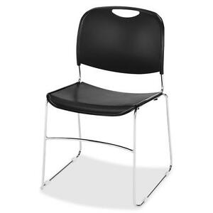 Lorell Wire Frame Stack Chair 19 3 8 x19 3 4 x30 4 ct Black 42938