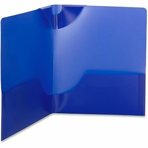 Smead Two pocket Folder Poly Lockit Ltr 25 bx Dark Blue 87942