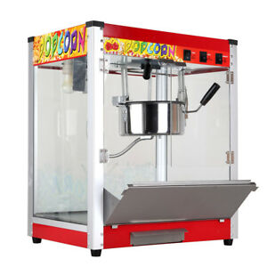 Asg 110v Electric Popcorn Machine Commercial Popper Maker 8oz Heat Preservation