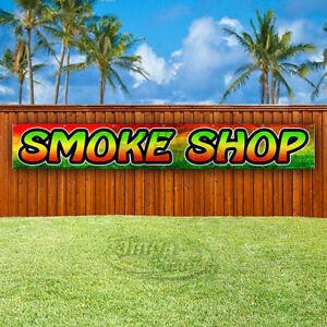 Smoke Shop Advertising Vinyl Banner Flag Sign Large Sizes Usa Vape Weed Rostra