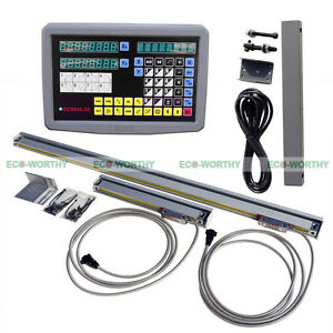 2 Axis Digital Readout Dro Linear Scale Kit For Cnc Emd Lathe Engraving Tool