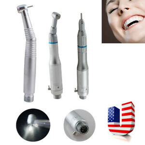Dental Led High Speed 2h 3 Way Spray Handpiece low Speed Hand Piece 2 Hole Push