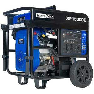 Duromax Xp15000e 15000 watt V twin Gas Powered Electric Start Portable Generator