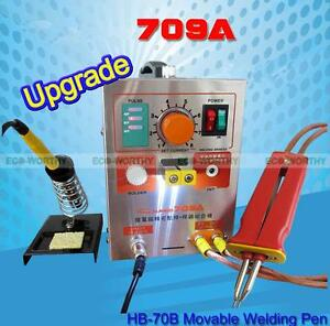 709a 2 In1 1 9kw 60a Battery Spot Welder Mobile Welding Pen Soldering Iron 220v