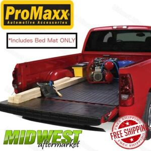 Promaxx Auto Black Rubber Truck Bed Mat Fits 2015 2018 Ford F150 8 Bed