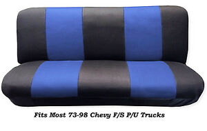 Mesh Black blue Full Size Bench Seat Cover fits Most 73 99 Chevy F s P u Trucks