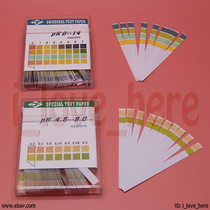 New 100 Full Range Ph 0 14 4 5 9 0 Test Indicator Paper Litmus Strips Universal