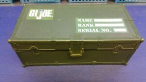 GI JOE AMMO STORAGE Container BOX Foot Locker WITH TWO 12