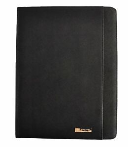 Saffiano Leather Padfolio By Sapphyr Black Saffiano