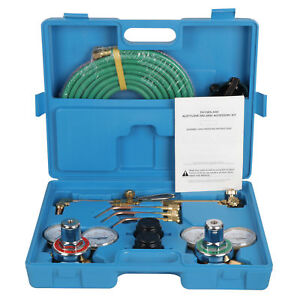 Gas Welding Cutting Kit Oxy Acetylene Oxygen Torch Brazing Fits With Hose