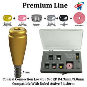 Rs Dental Implant Locator Conical Attachment Abutment Rp Nobel Active 5mm
