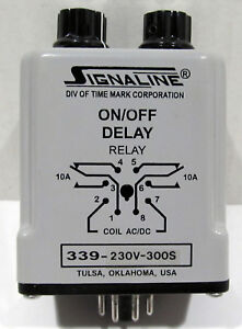 Nos Time Mark Signaline 339 230v 300s On off Delay Timer 98067711