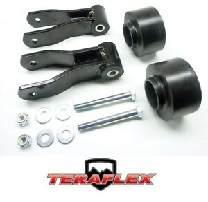 Teraflex 2 Budget Boost Coil Spacer Lift Kit For 1984 2001 Jeep Cherokee Xj