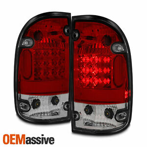 Fits 95 00 Toyota Tacoma Pickup Truck Red Clear Led Tail Brake Lights Left Right
