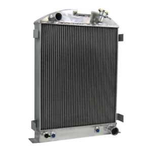 4 Row Core Aluminum Radiator For Ford grill shells W chevy V8 eng 1933 1934