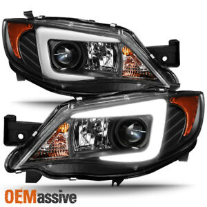 halogen Type 2008 2014 Subaru Impreza Wrx Led Light Tube Projector Headlights