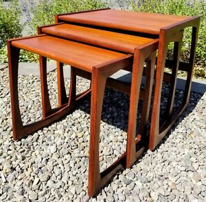 Mid Century Danish Modern Teak Nest Tables G Plan Quadrille By R Bennett